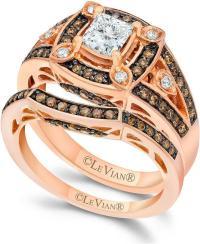 Chocolate Diamond Wedding Ring Set