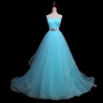 Light Blue Wedding Gown Online Shopping