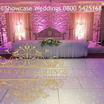 Luxury Wedding Stage Event Decor Flower Wall Hire Indian Asian