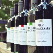 Marriage Milestones Wedding Gift Wine Labels