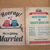 Marvelous Owl Wedding Invitations