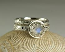 Moonstone Wedding Ring