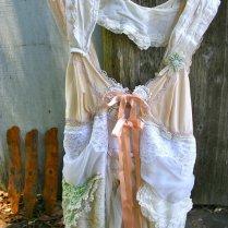 Mori Girl Dress Upcycled Wedding Tattered Bohemian By Novelatelier