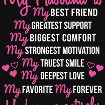 My Husband Is My Best Friend Wedding Anniversary Gift For Wife T
