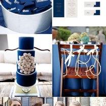 Navy Blue And White Wedding Colour Theme