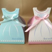 Online Cheap Big Bridal Shower Favor Dress Candy Box Wedding Gift