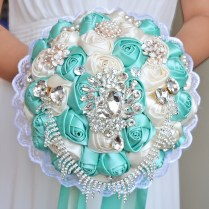 Online Get Cheap Turquoise Wedding Bouquets