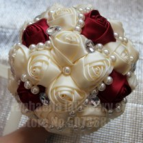 Online Shop Stock Wedding Bouquets Durable Handmade Cream Ivory