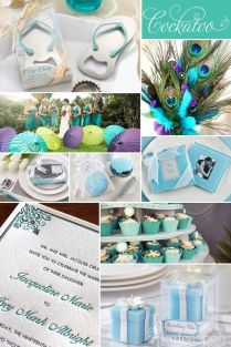 Peacock, Beach, Wedding