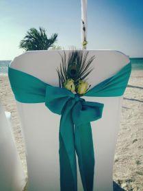 Peacock Beach Wedding, Peacock Wedding Theme, Beach Weddings With