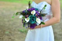Peacock Bridal Bouquet
