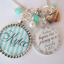 Personalized Adoption Gift Necklace Or Bracelet Step New Daughter