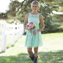 Popular Country Bridesmaid Dresses Turquoise