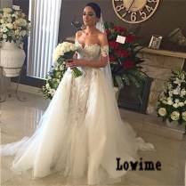 Popular Wedding Dresses Removable Skirt