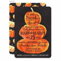 Pumpkin Baby Shower Invitations Etsy