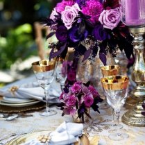 Purple And Gold Wedding Colors Archives