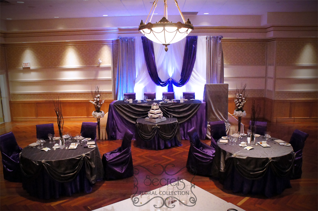 Plum And Silver Wedding Decorations