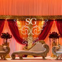 Red And Gold Wedding Decoration Ideas