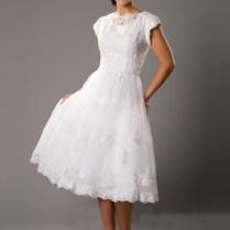 Retro Tea Length Wedding Dress