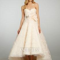 Robe De Mariage Summer Elegant Beaded Front Short And Long Back