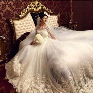 Romantic Victorian Wedding Dresses 2015 A Line Scoop Vintage Lace
