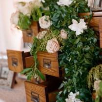 Rose And Greenery Garland Reception Decor Ideas