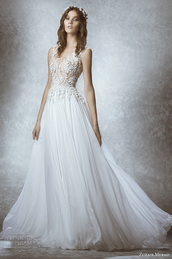 Sheer Bodice Wedding Dress