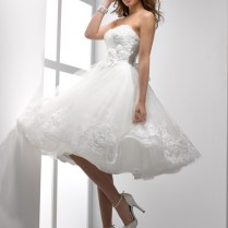 Short White Wedding Dresses For Wedding Party In Summer