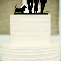 Silhouette Wedding Cake Topper, Funny Wedding Cake Topper,bride