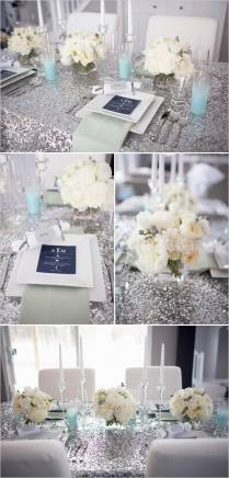 Silver Wedding Decorations For Tables On Decorations With
