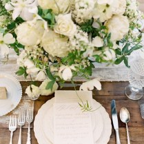 Simply Lovely Wedding Menu Place Settings