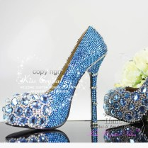 Something Blue Wedding Shoes Girls Blue Bridal Shoes Closed Toe