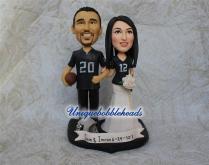 Sports Wedding Cake Topper, Custom Wedding Cake Toppers, Jersey