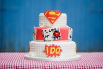 Superman Wedding Cake
