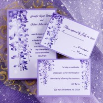 Unique Purple Garden Wedding Invitations Ewi007 As Low As $0 94
