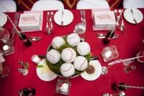 Vintage Baseball Wedding Reception Decor