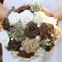 Wedding Bouquet, Fabric Wedding Bouquet, Silk Wedding Bouquet