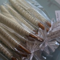 Wedding Chocolate Dipped Pretzels 12 Bride To By Bubbassweets