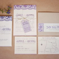Wedding Invitation Labels Photo Album