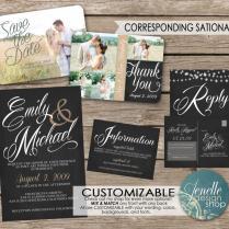 Wedding Invitations, Save The Date, Thank You Postcard, Printable