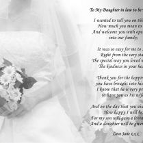 Wedding Poems For Son And Daughter In Law