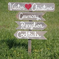 Wedding Signs In The Right Direction Directional Sign Post Beach