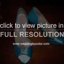 Wedding Tag Tiffany Blue Shoes