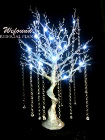 Wefound 85cm 33'' Tall Led Lighted Manzanita Tree Wedding Party