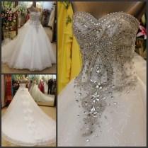 White Wedding Dress With Sparkles