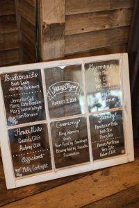 Window Pane Wedding Ideas