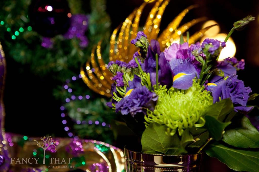 Mardi Gras Themed Wedding Reception