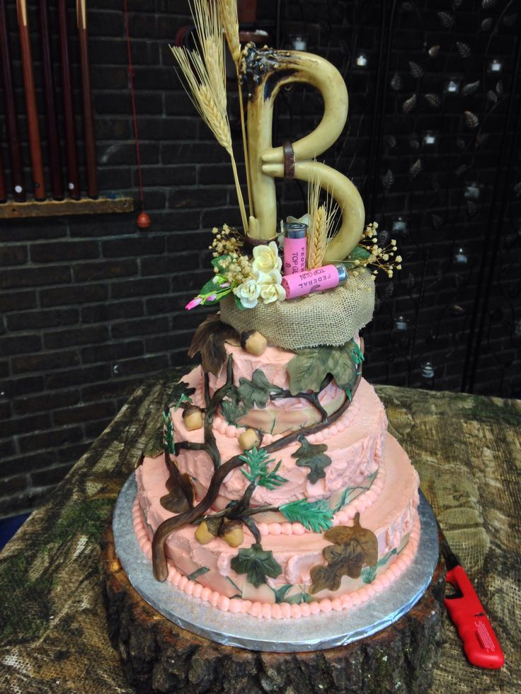 Pink Camouflage Cake Ideas