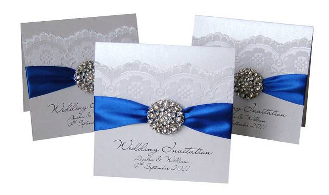 Royal blue wedding invitations cheap paperinvite royal blue wedding invitations filmwisefo