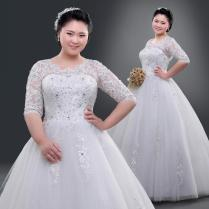 2016 Lace Wedding Dresses Real Picture For Chubby Women Plus Size
